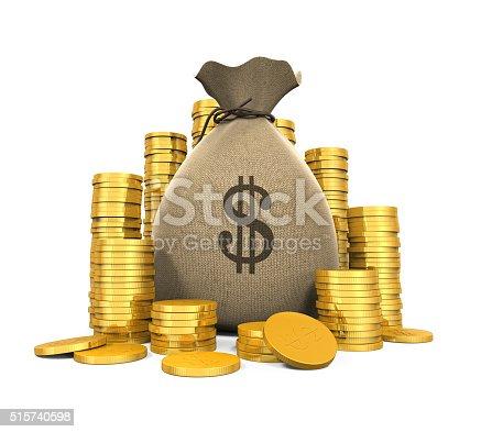 482747823istockphoto Money Coins in Bag 515740598
