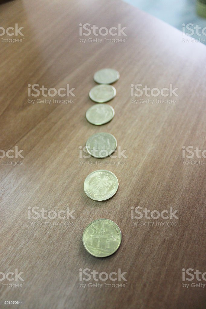 Money coins in Dinars stock photo
