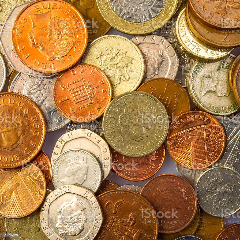money coins stock photo