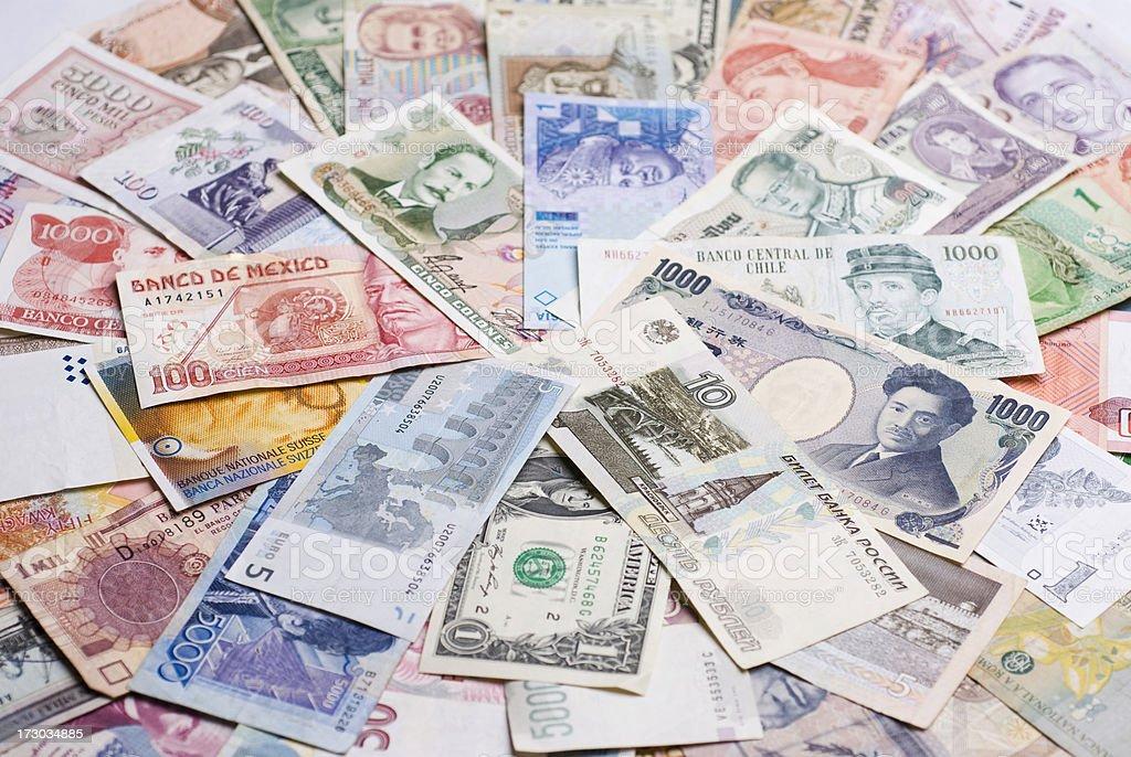 Money collage royalty-free stock photo