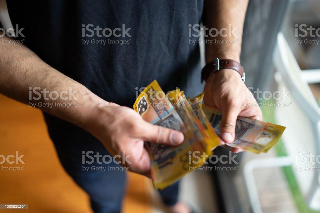 money counting stock photo