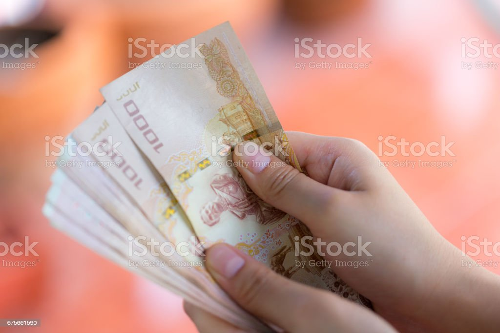 money counting royalty-free stock photo