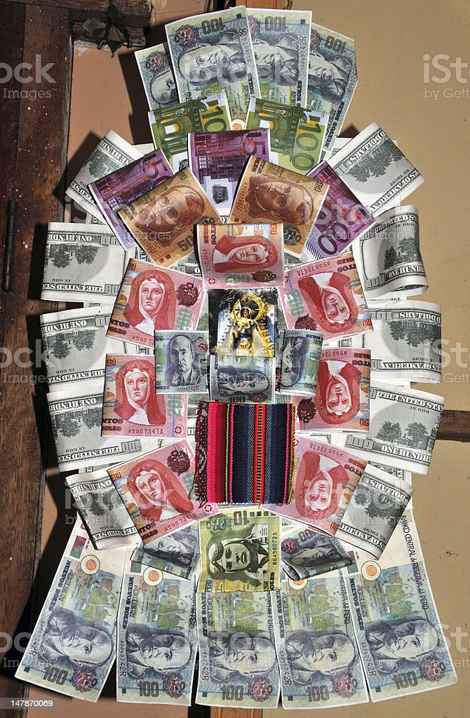 Money decoration stock photo