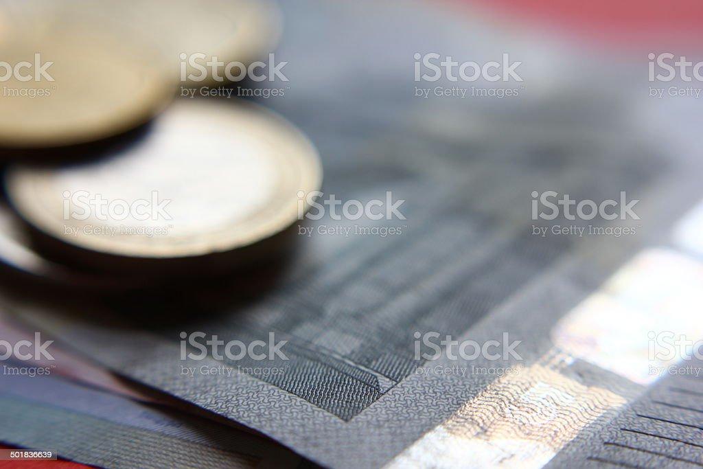 Money detail stock photo