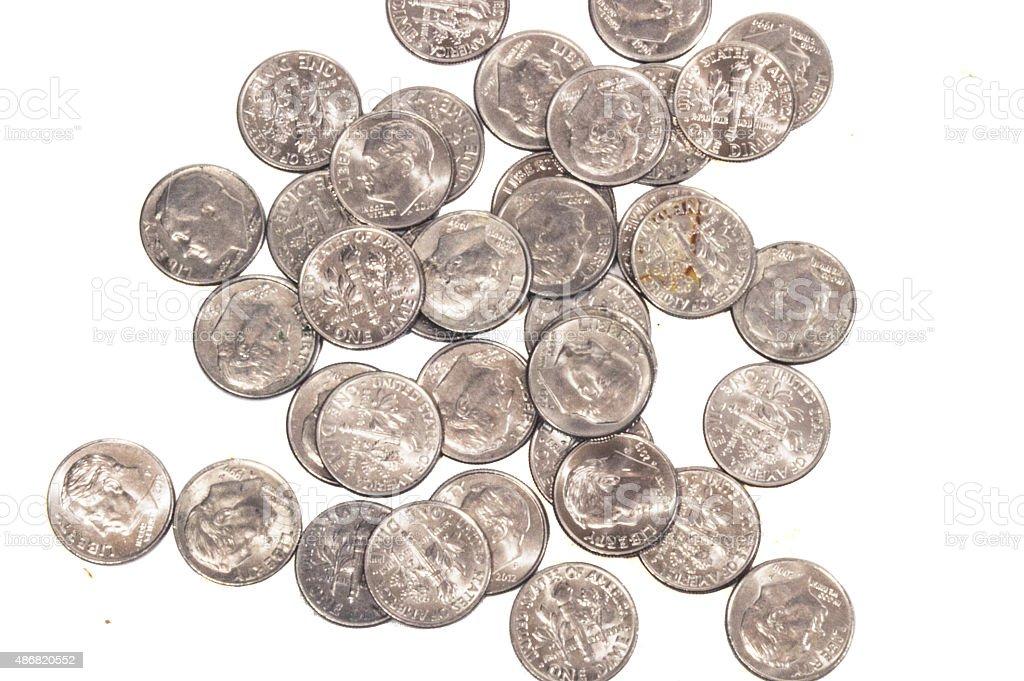 Money Dime stock photo