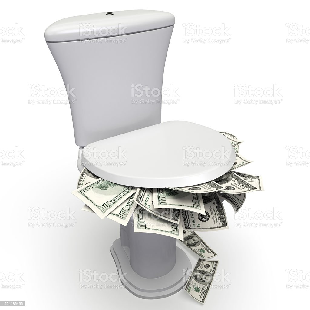 Money Down stock photo