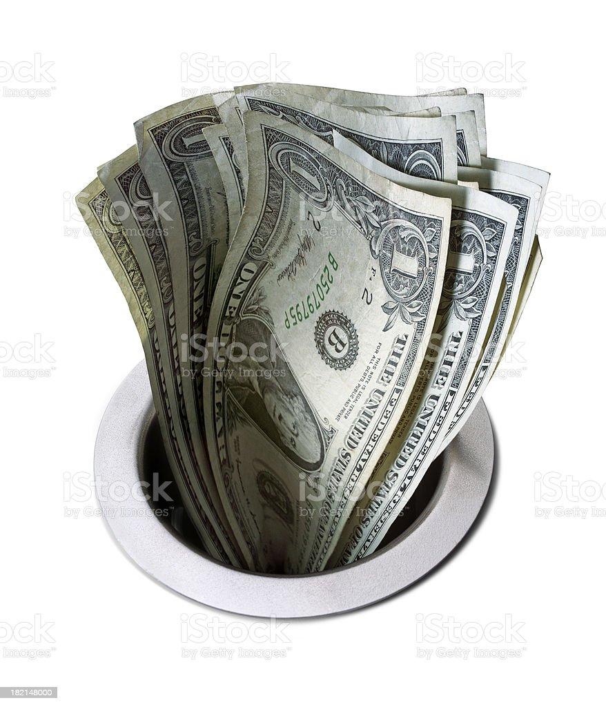 Money Down The Drain 1 stock photo