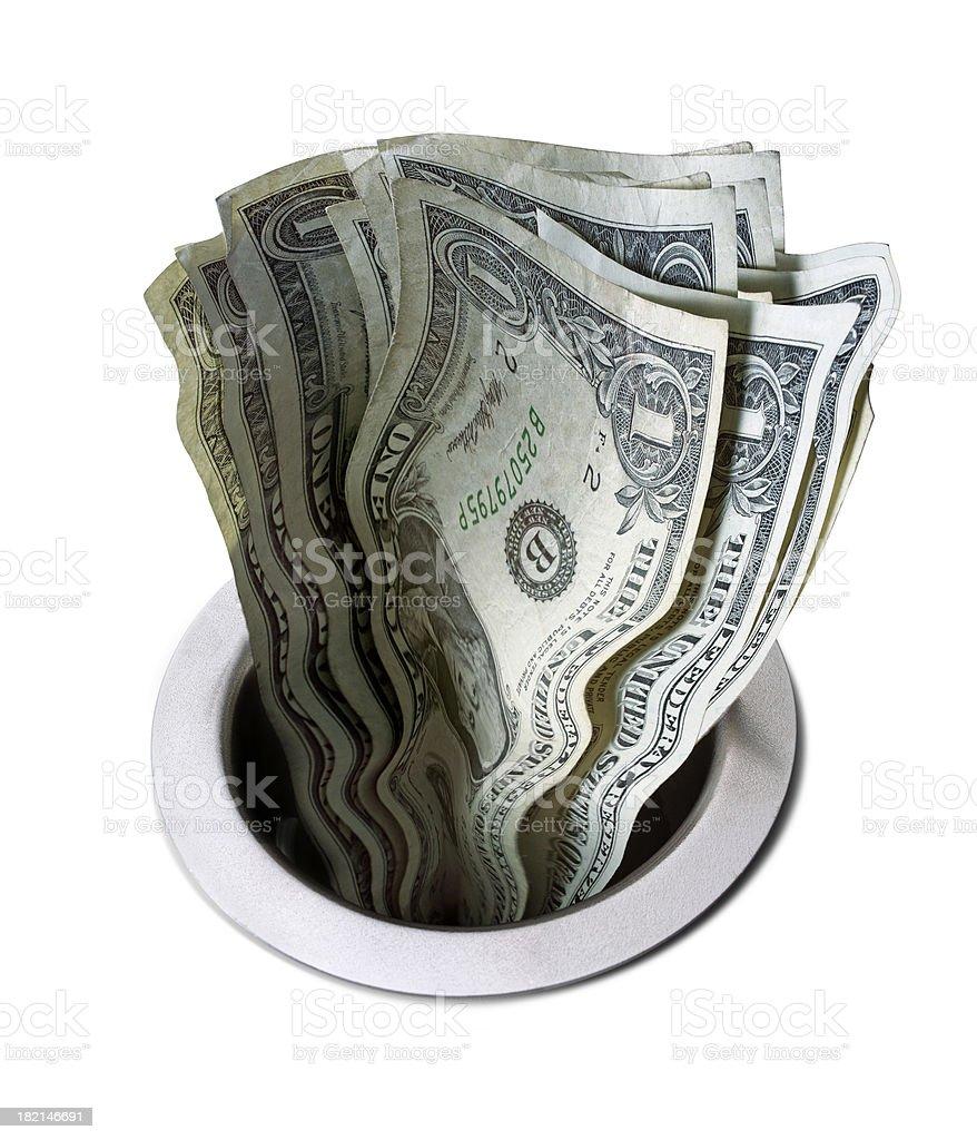 Money Down the Drain 3 stock photo