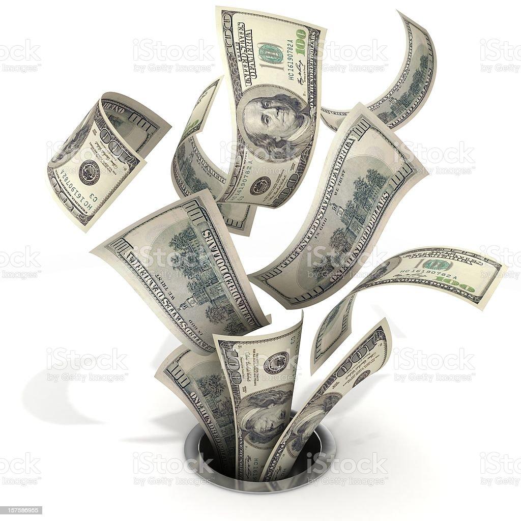 Money Down the Drain royalty-free stock photo
