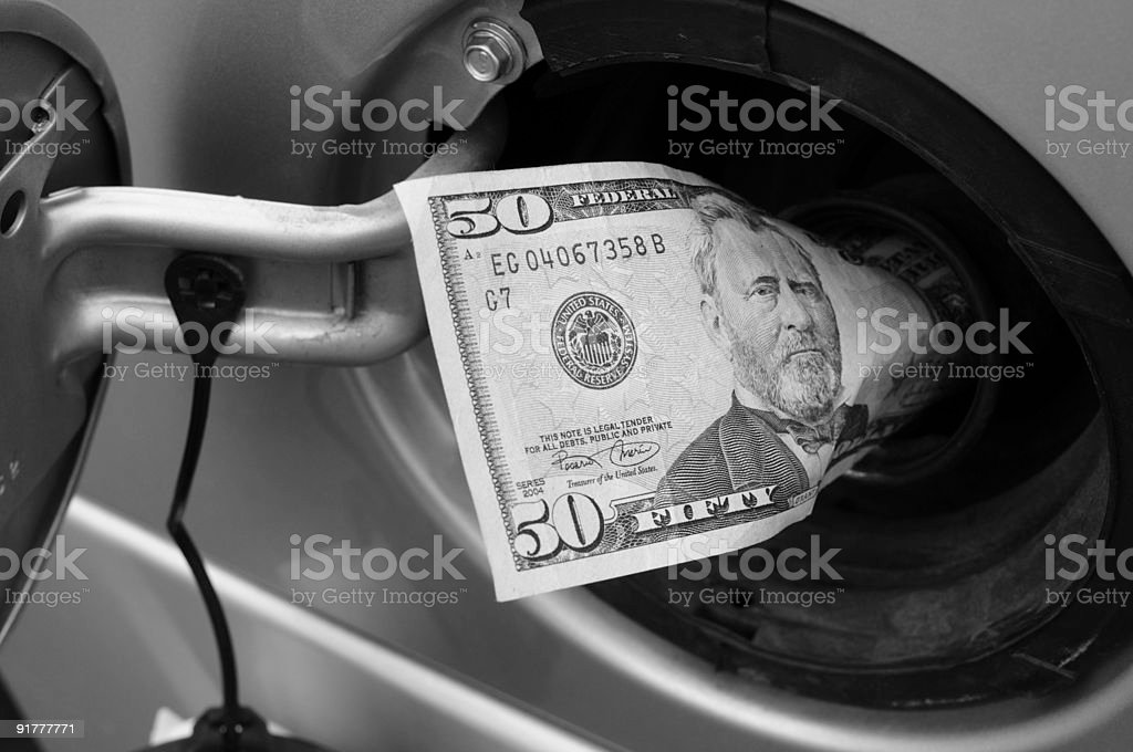 Money Down the Tank royalty-free stock photo