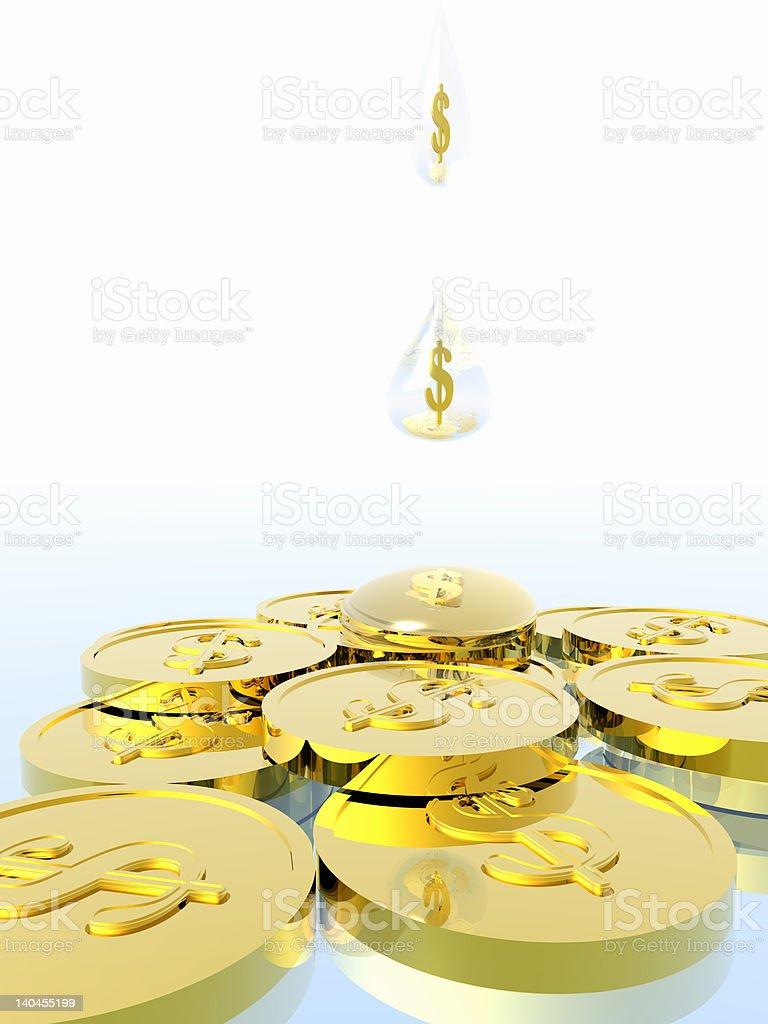 Money drip. royalty-free stock photo