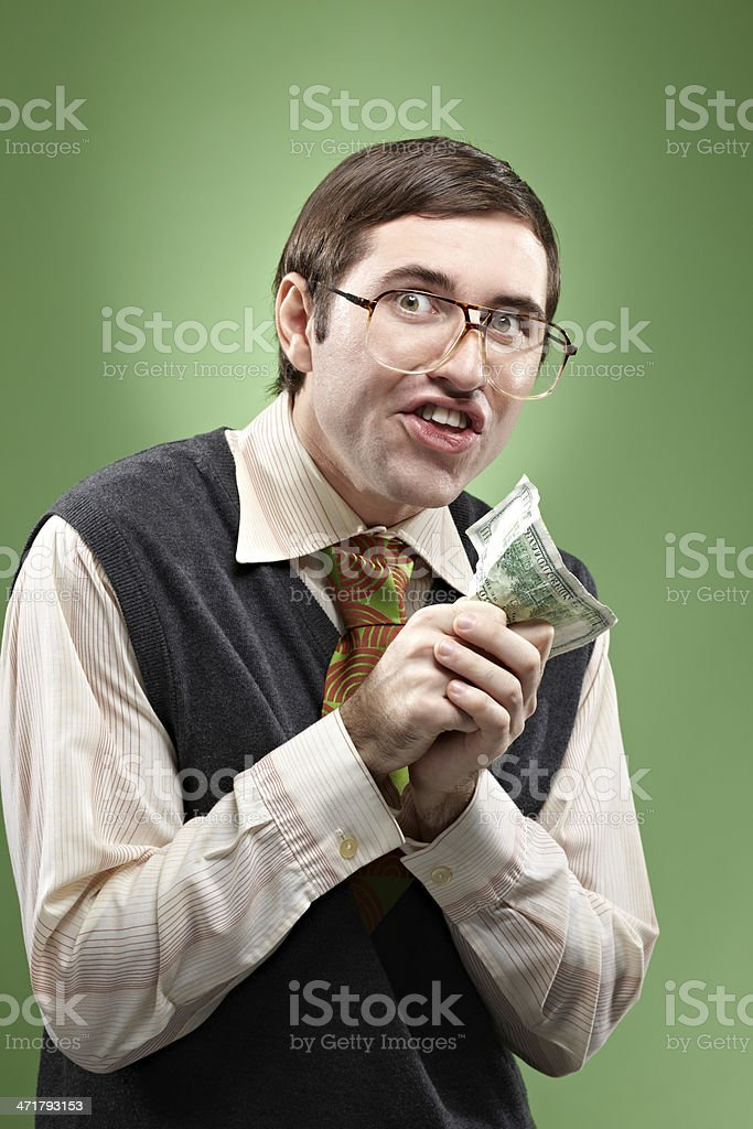 Money drives you mad stock photo