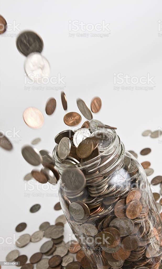 Money Drop - Royaltyfri 25-centsmynt Bildbanksbilder