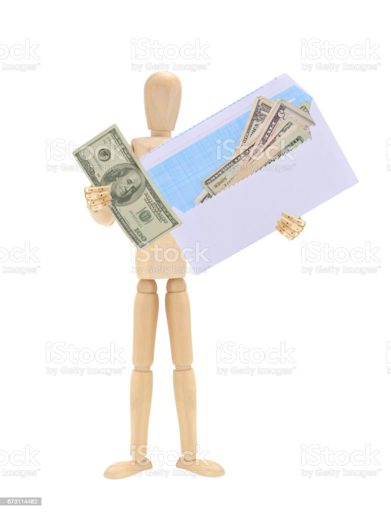 Money Envelope Mannequin stock photo