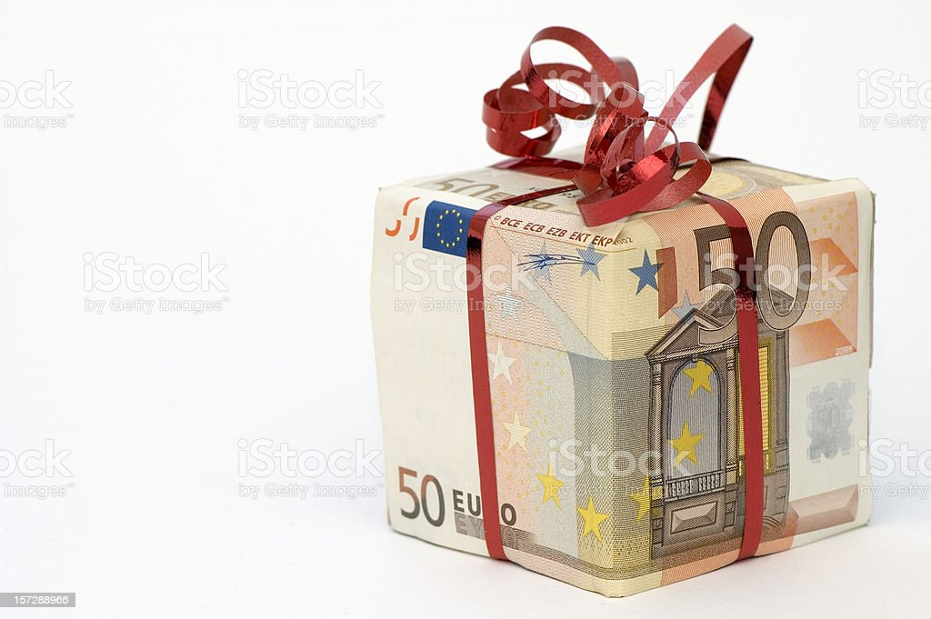 Money - Euro Present stock photo