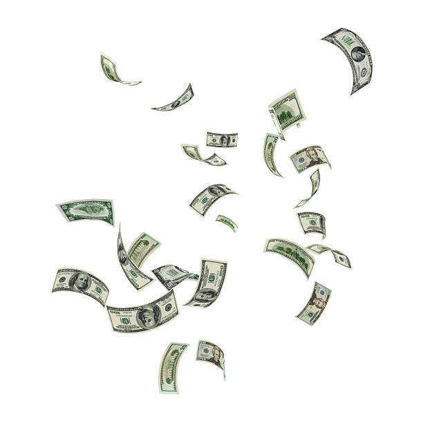 Money Falling  mid air stock pictures, royalty-free photos & images
