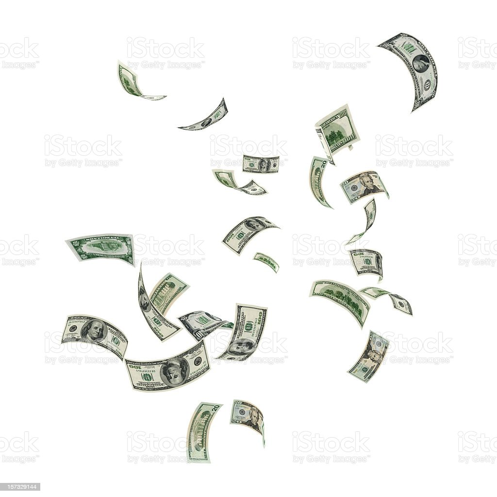 Money Falling stock photo