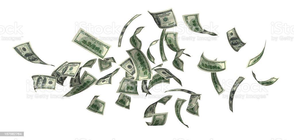 Money Falling royalty-free stock photo