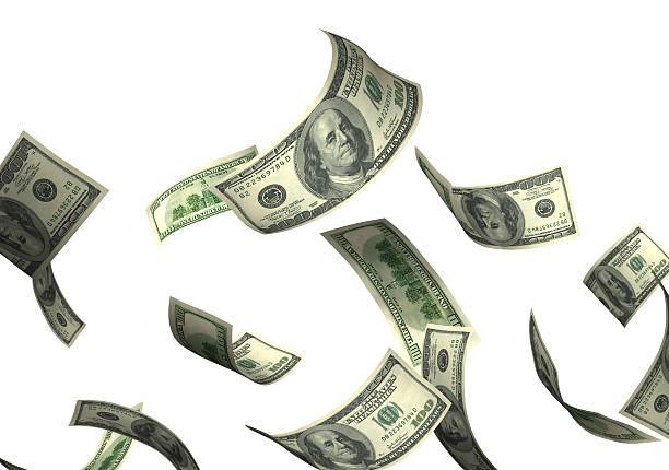 geld fallen - sterntaler stock-fotos und bilder