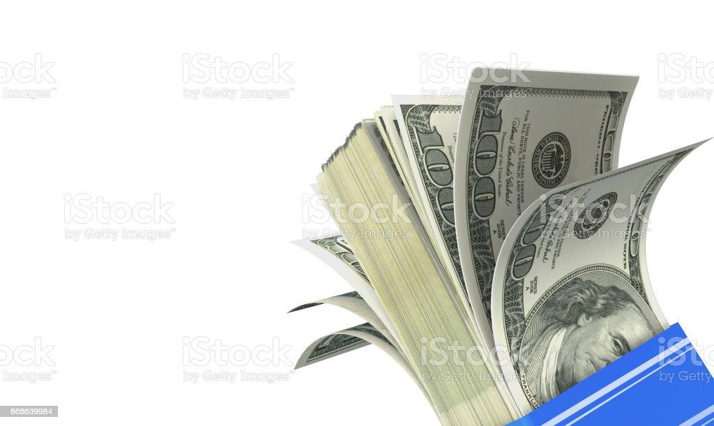 money fan 100 dollars banknote background stock photo