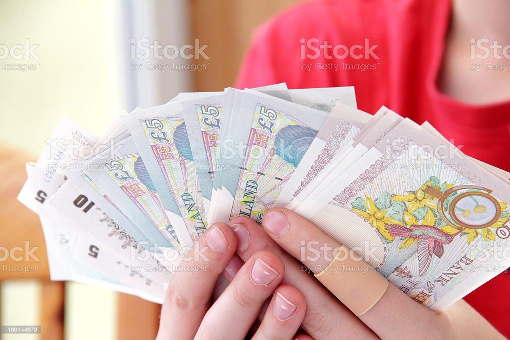 money fan stock photo