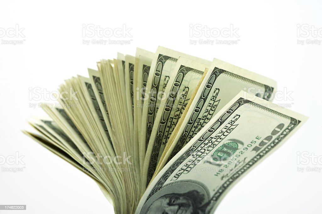 Money Fan royalty-free stock photo