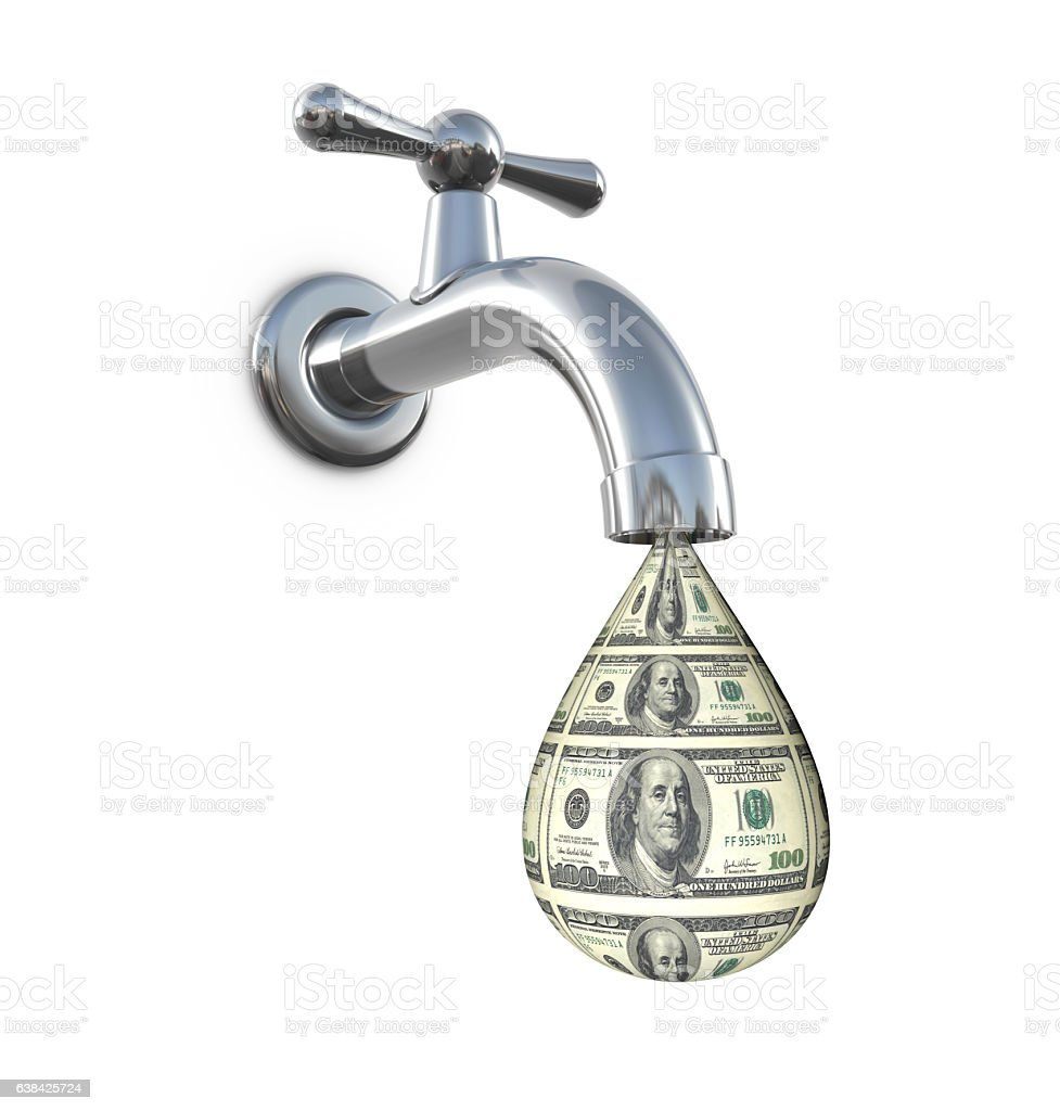 Money Faucet stock photo