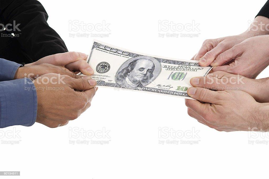 Money fight royalty-free stock photo
