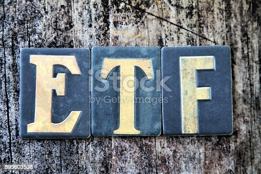 Money concept ETF Exchange Traded Fund. Popular investment vehicle