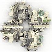 Money finance gear cogwheel