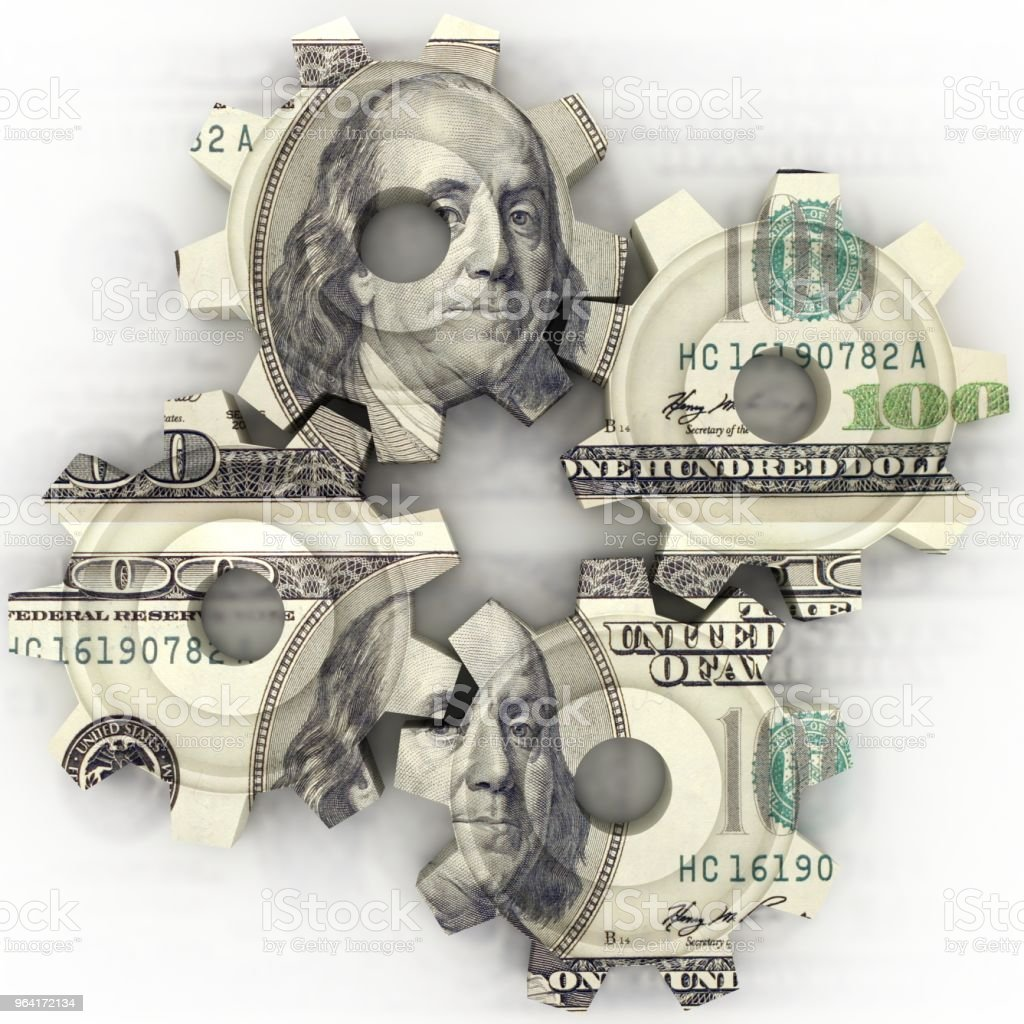 Geld Finanzen Gang Zahnrad – Foto