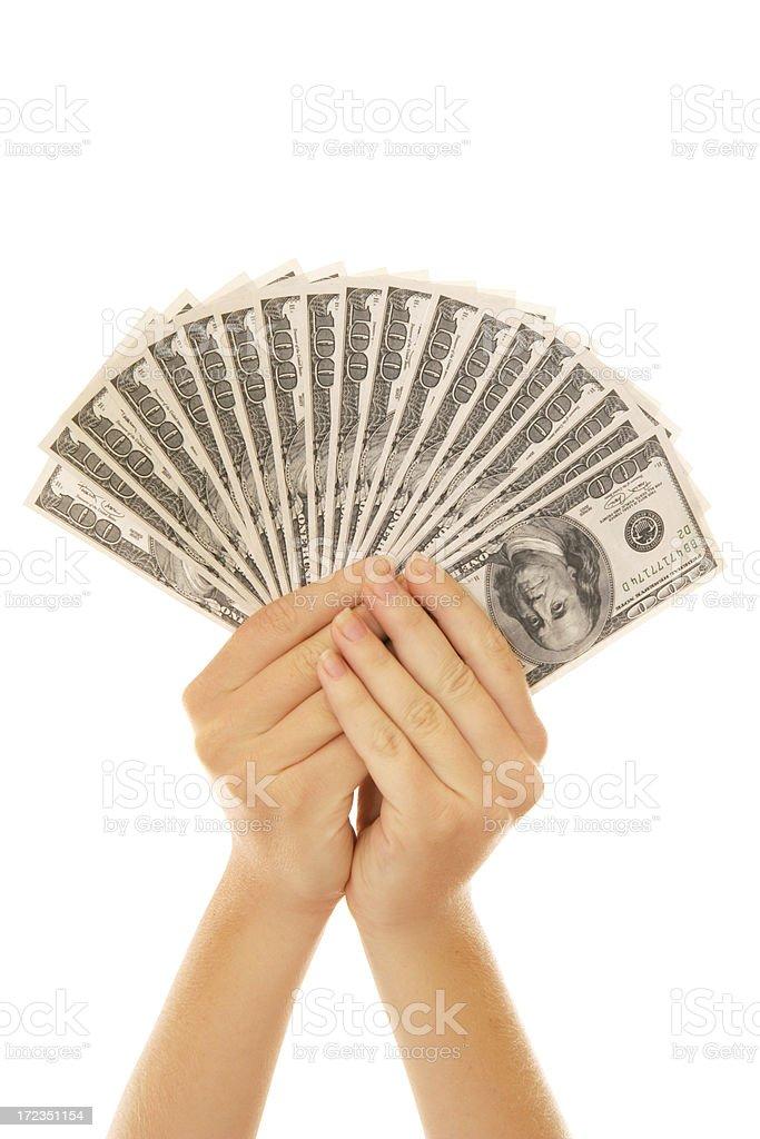 Money Fingers royalty-free stock photo