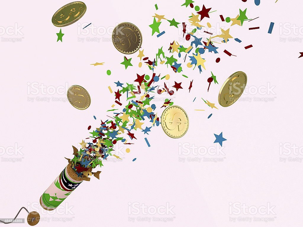 Money, firecracker royalty-free stock photo