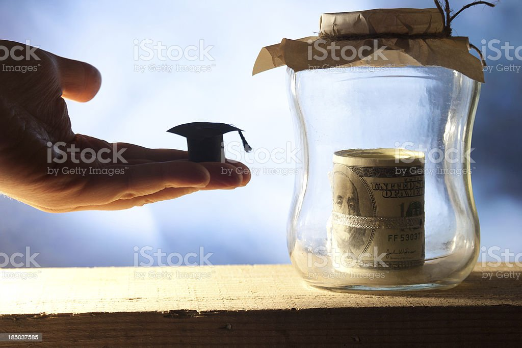 Money for college. stock photo