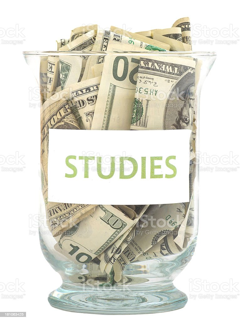 money for education studies royalty-free stock photo