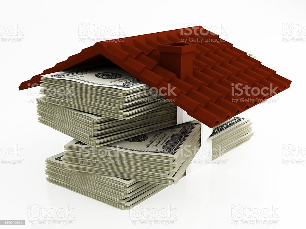 Money for house royalty-free stock photo