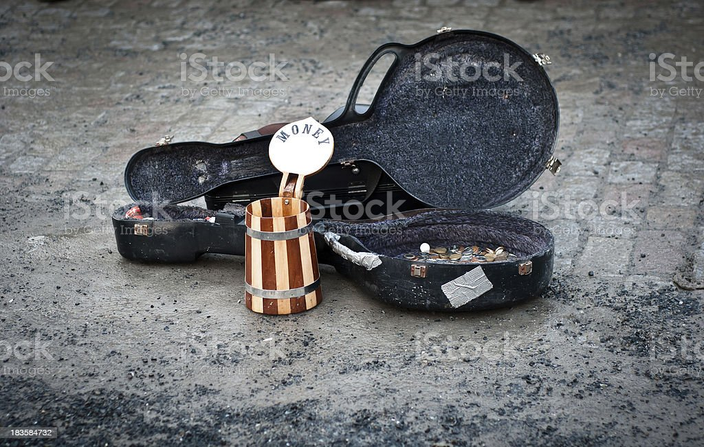 Money for street music royalty-free stock photo