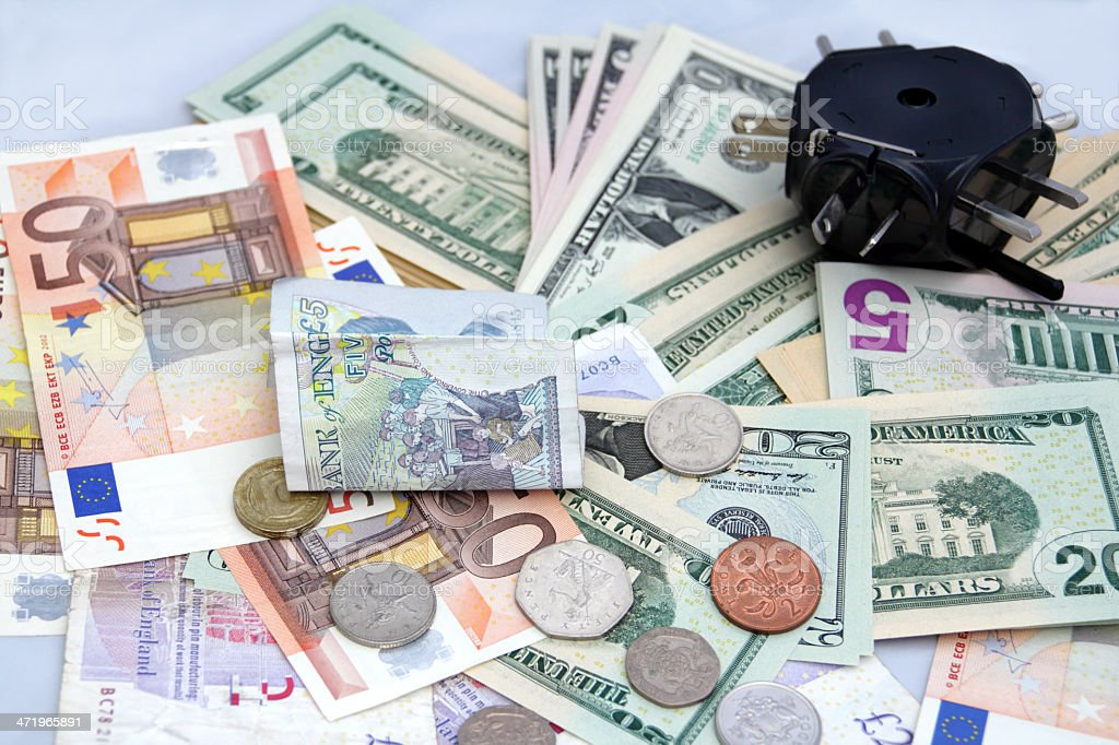 money for travelling stock photo