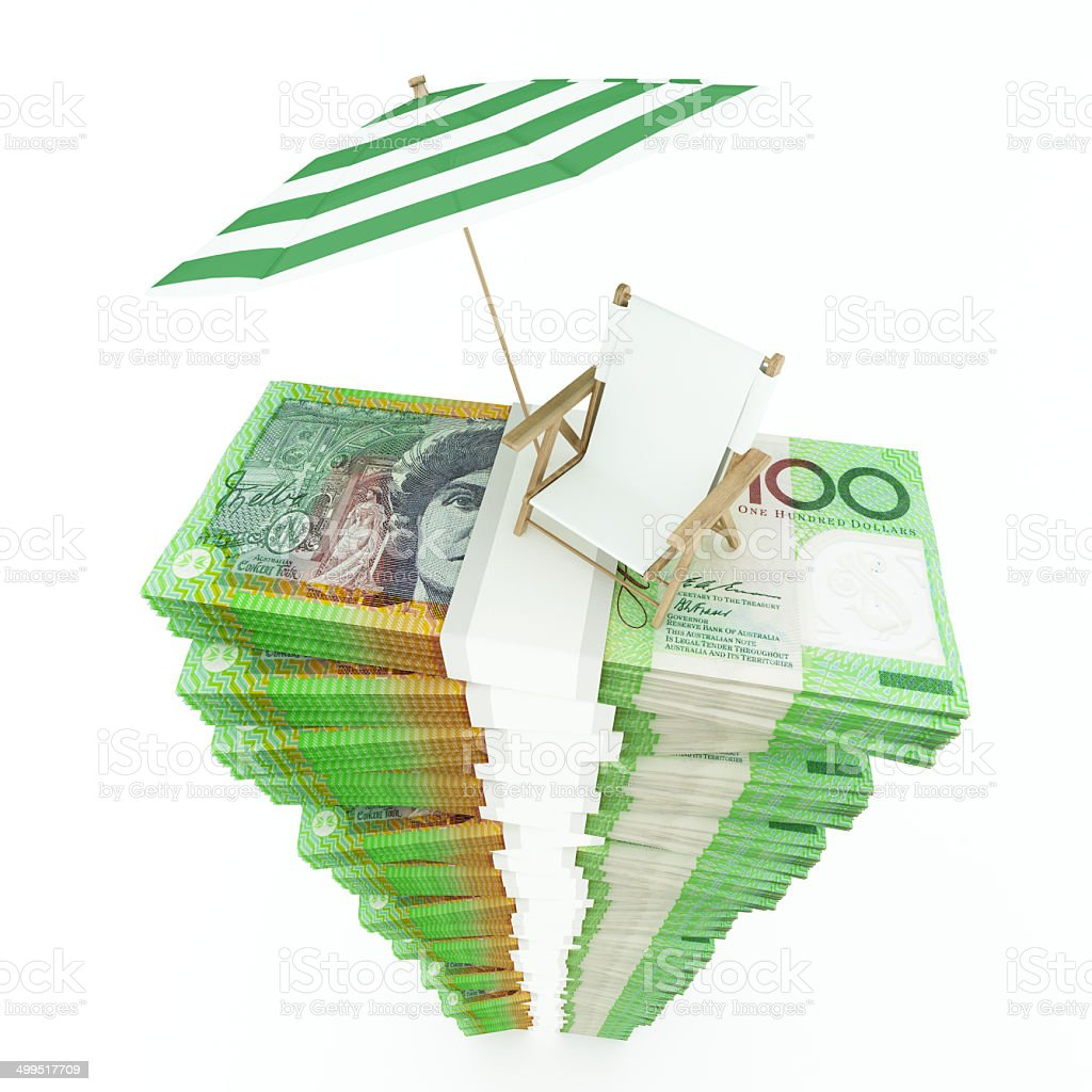 Money for vacation stock photo
