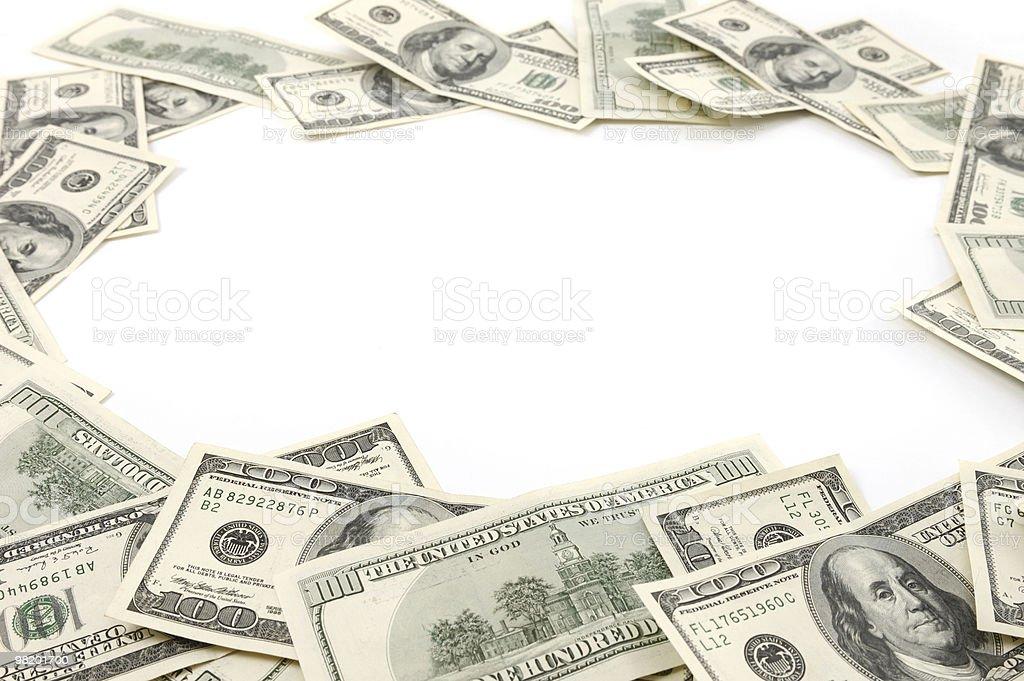 Money Frame Made from Dollar Bills royalty-free stock photo
