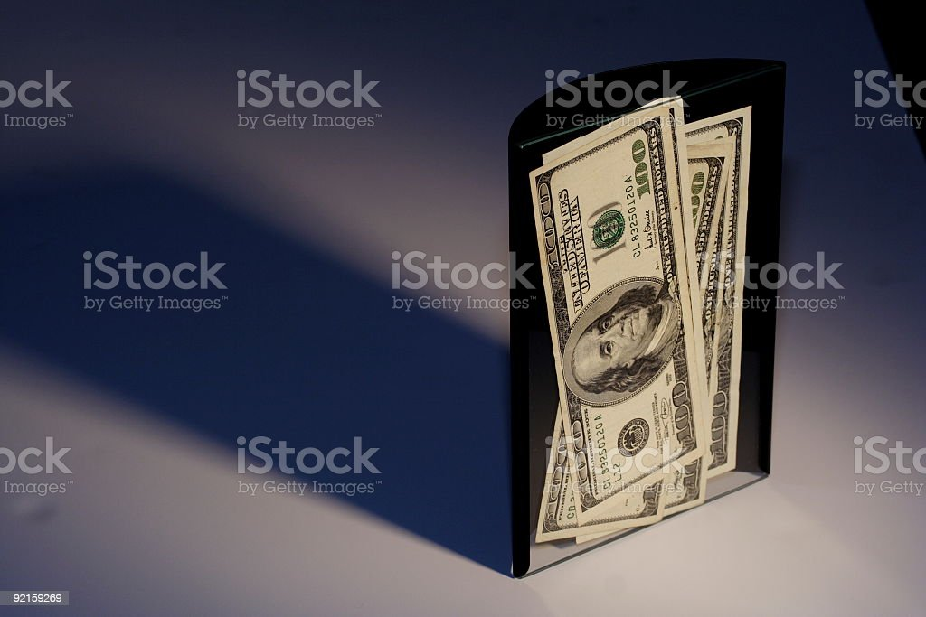 Money frame with Shadow 2 royalty-free stock photo