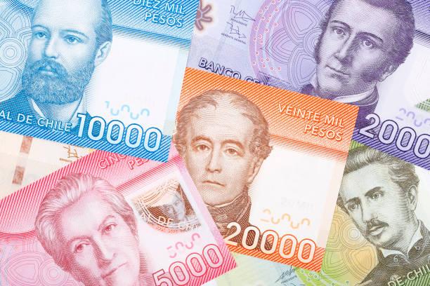 Geld aus Chile, einem Hintergrund – Foto