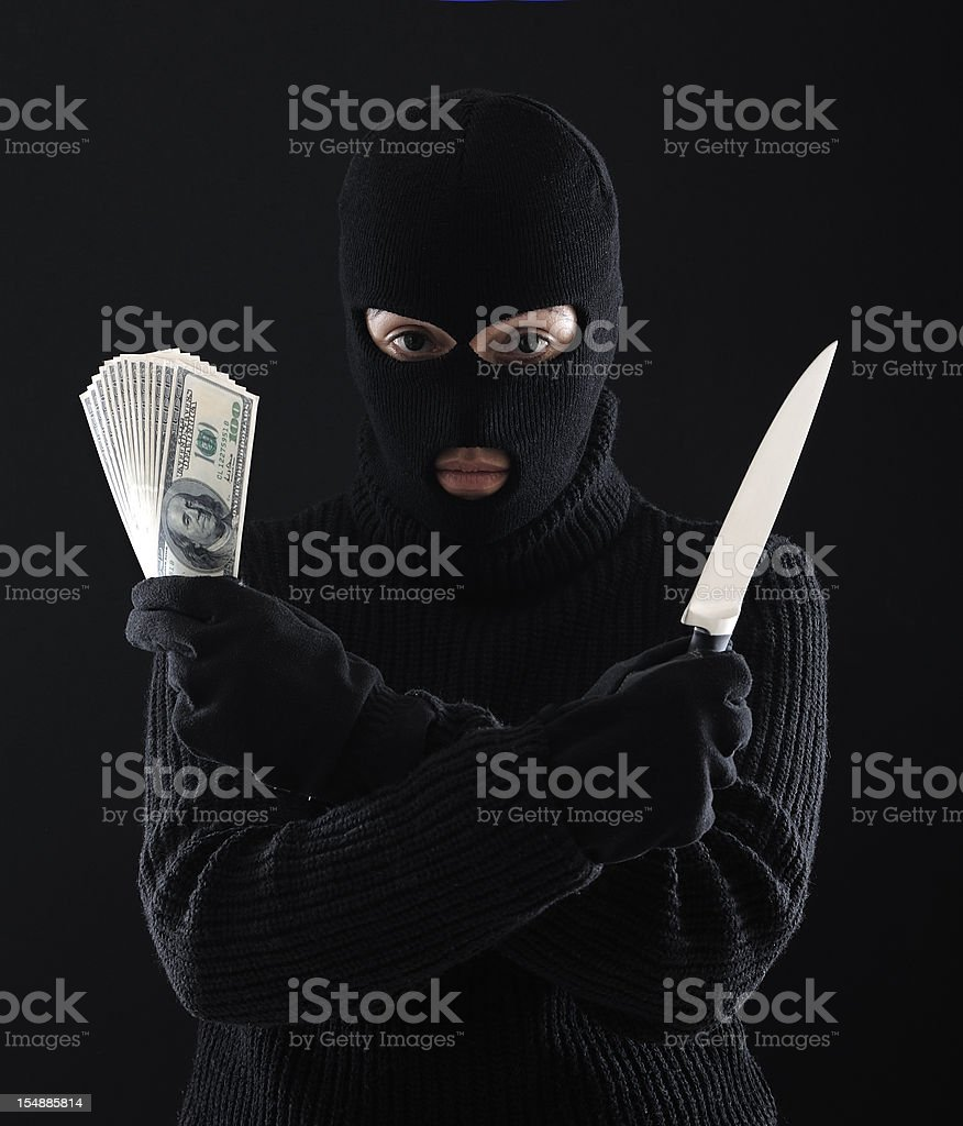 Money From Crime royalty-free stock photo