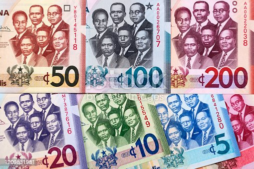 Money from Ghana - Cedi a business background