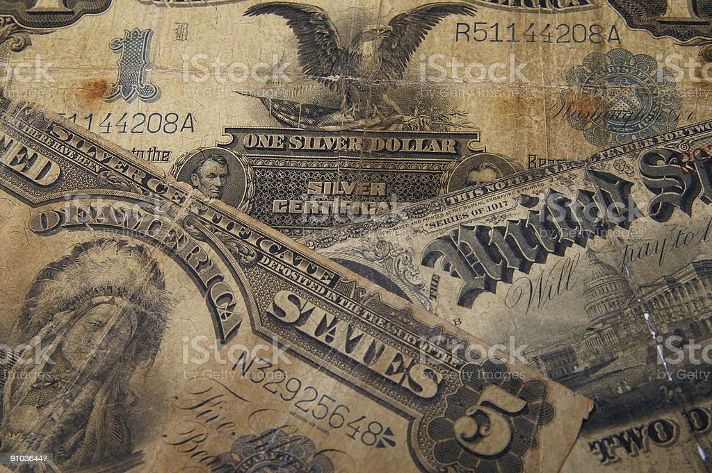 Money from the past stock photo