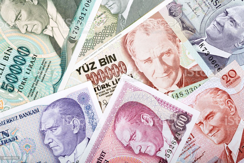 Money from Turkey, a background - Royalty-free Business Stock Photo