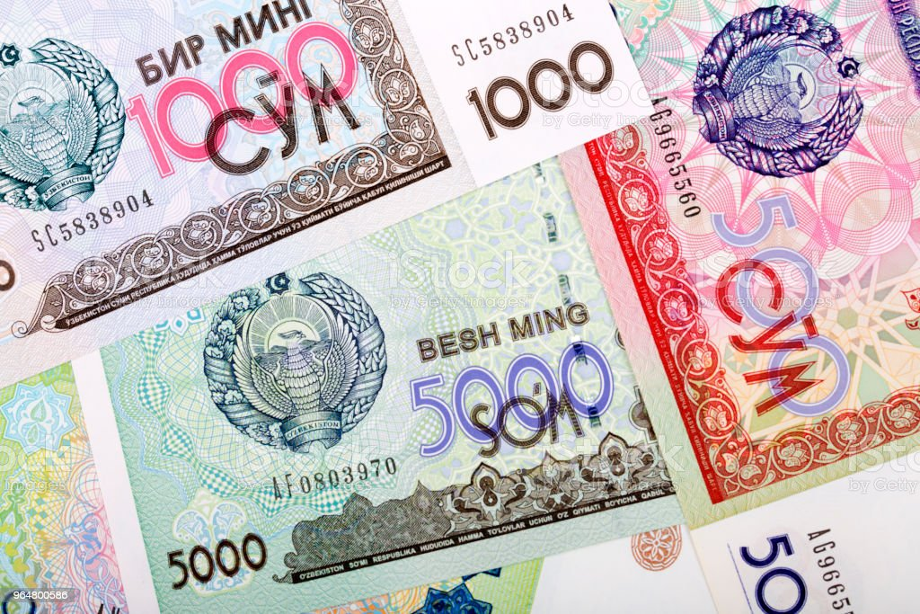Money from Uzbekistan, a background royalty-free stock photo