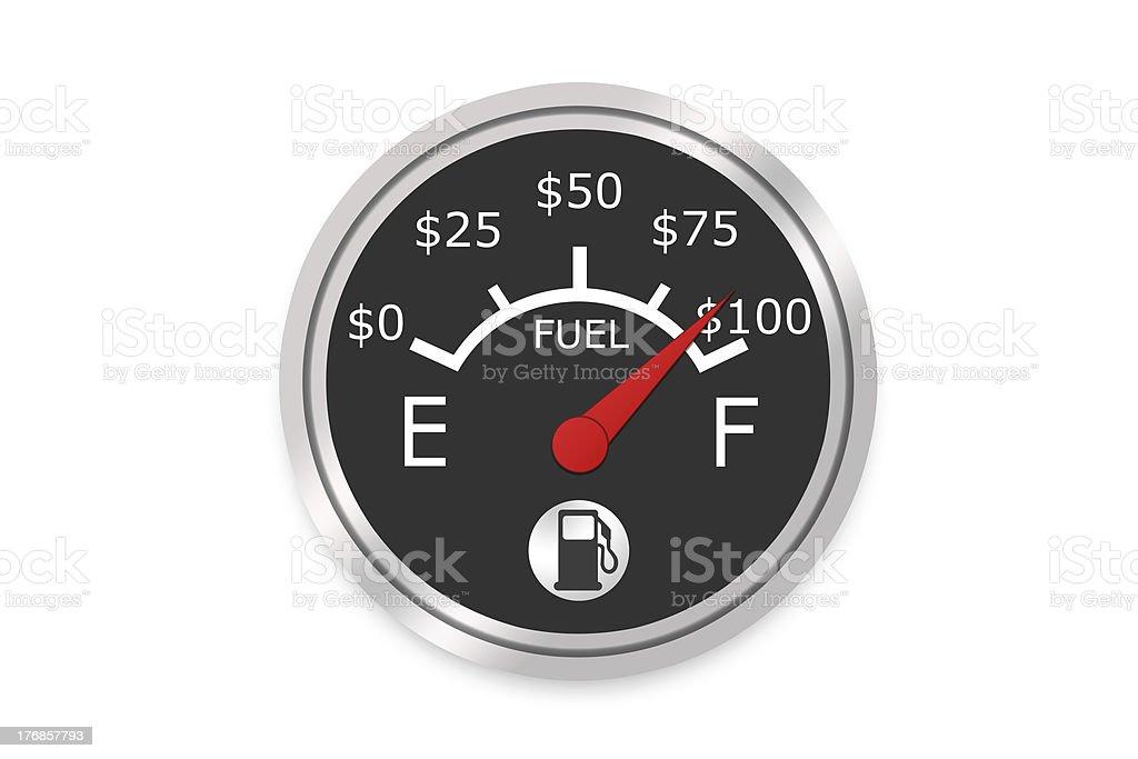 Money Fuel Gauge royalty-free stock photo