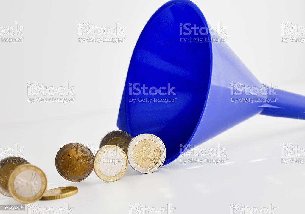money funnel stock photo