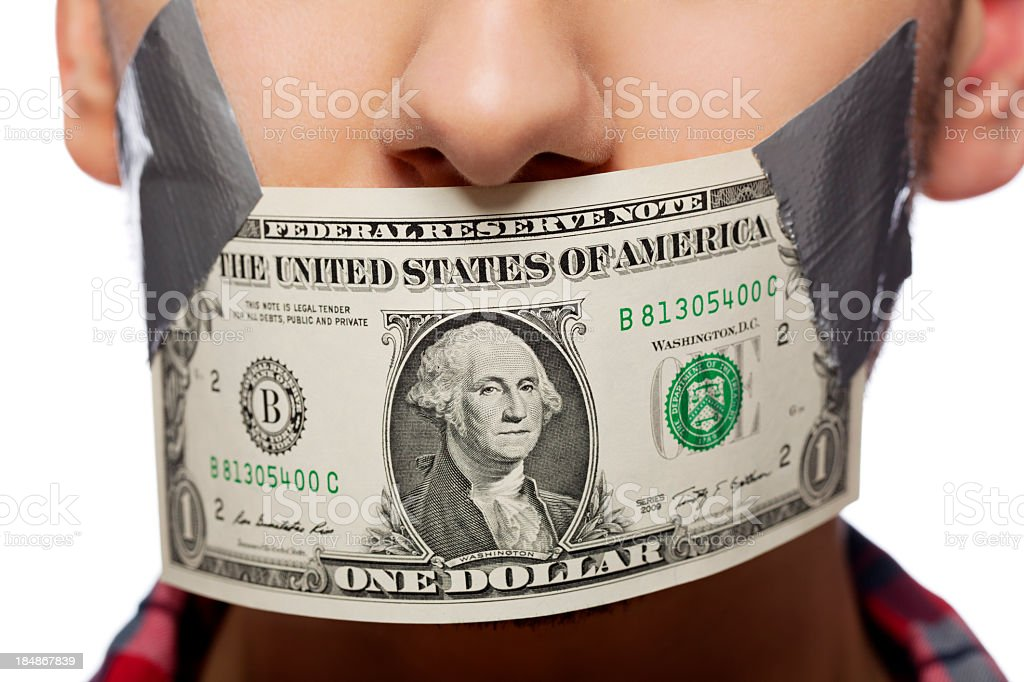Money Gag Close Up royalty-free stock photo